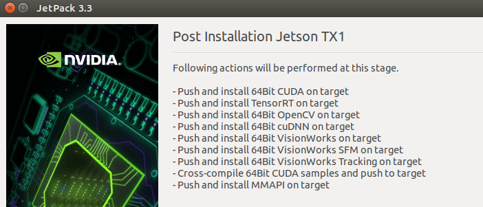 Installation of Jetpack on NVIDIA Jetson TX1 – Technoinc